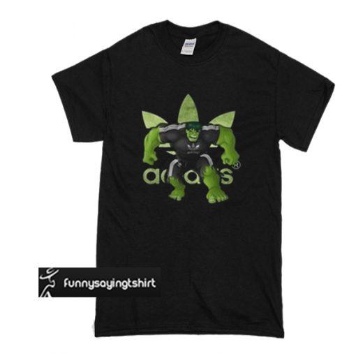 Adidas fashion Hulk Avenger t shirt