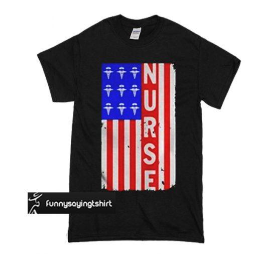 American Flag nures t shirt