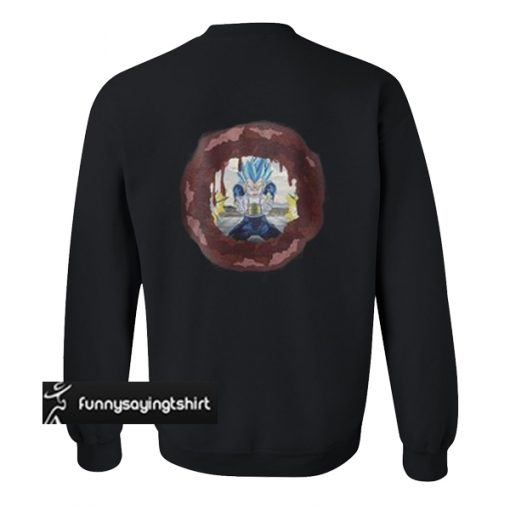 Canon flash cheat Vegeta sweatshirt back
