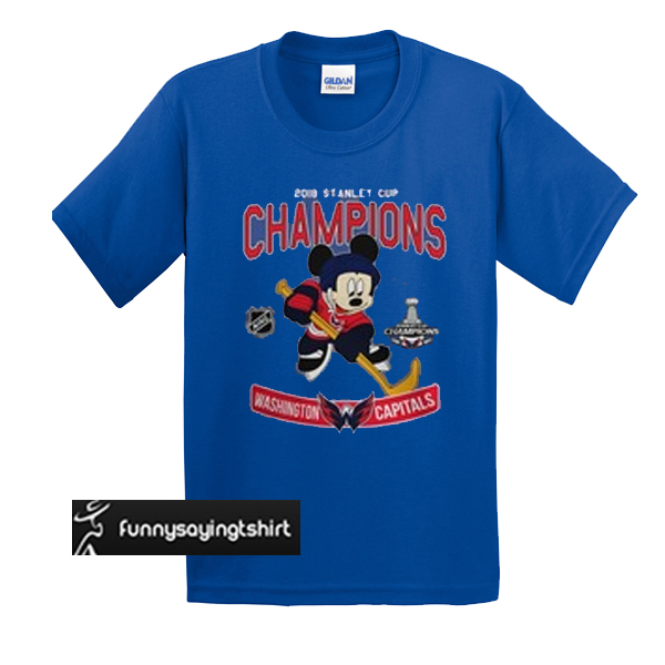 (OFFICIAL) Hockey Mickey 2018 Stanley Cup Champions Washington Capitals t  shirt 4440f5a4e
