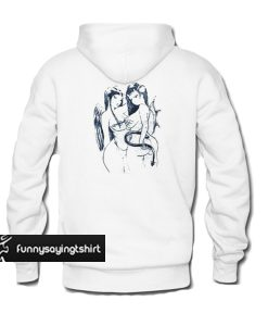 woman angel and devil hoodie