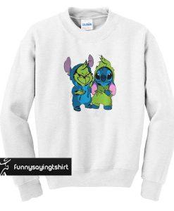 Baby Grinch and Stitch sweatshirt