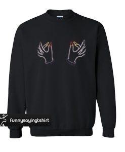 Twin Hand Boobs sweatshirt