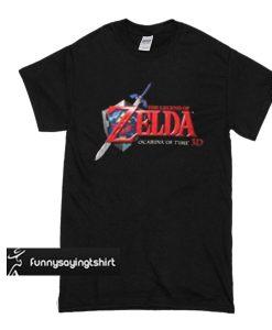 Zelda Ocarina of Time 3D logo t shirt