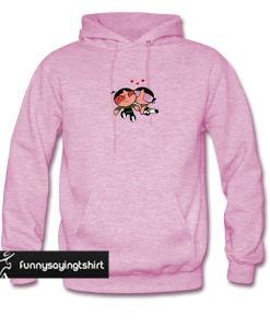 (MEN HOOD) powerpuff girl buttercup kiss hoodie