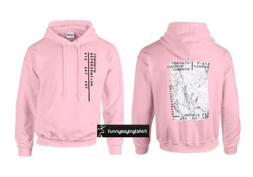 Toronto pink hoodie