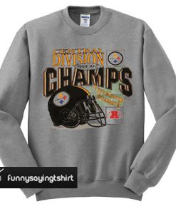 Vintage 1994 Pittsburgh Steelers Central Division Champs sweatshirt