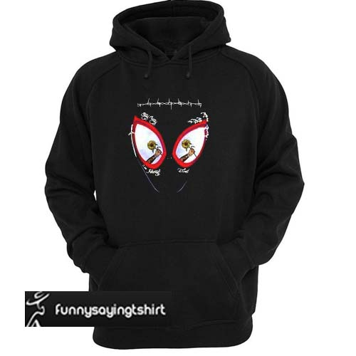 6cd7e63d Post Malone stay away always tired Spider man mask hoodie