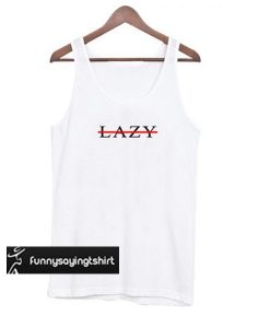 Lazy Cross Line tank top