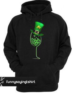 Wine shamrock Irish hoodie