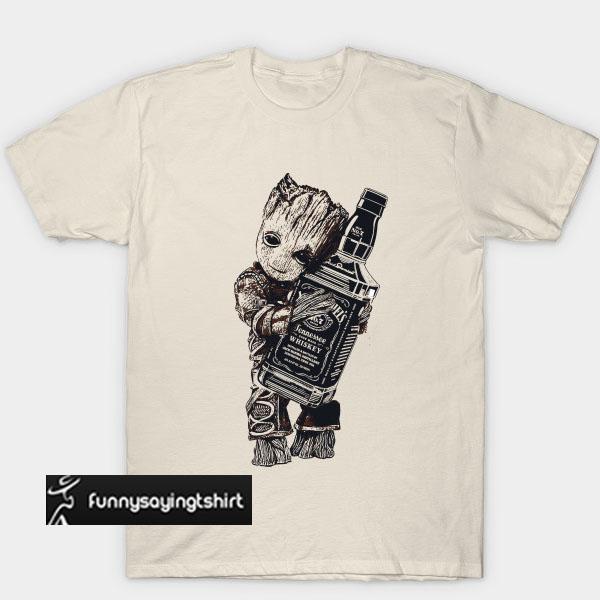 b5b4e8f2e Baby Groot Hug Jack Daniel's Tennessee Whiskey T-Shirt. Baby Groot Hug Jack  Daniel's Tennessee Whiskey T-Shirt