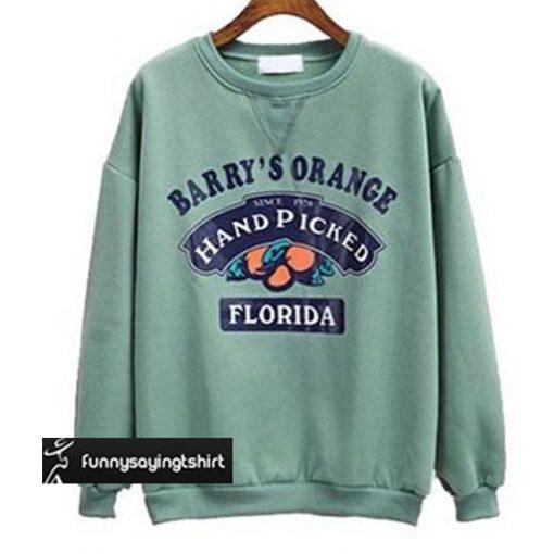 Barry's Orange Florida Crewneck Sweatshirt