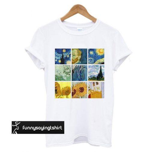 Van Gogh Painting Print t shirt