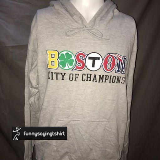 Boston city of champions hoodie