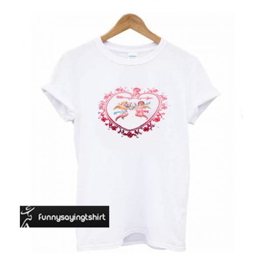 Love cupid print angel t shirt