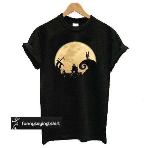 The Jack Skellington Moon t shirt