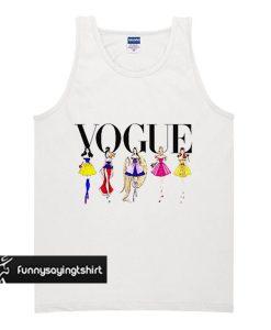 Disney tank top, Disney Princess tank top, Disney gift, Vogue tank top, Snow white, Mulan, Rapunzel, Sleeping beauty tank top