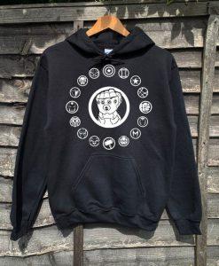 Avengers Symbols Infinity Gauntlet Marvel inspired adults unisex hoodie