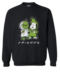 Baby Grinch And Snoopy Friends Light Christmas sweatshirt