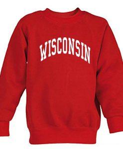 Wisconsin Font sweatshirt