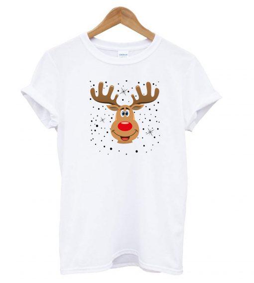 Weihnachten Rentier Kopf t shirt