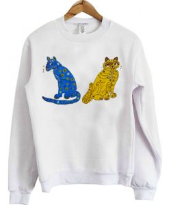 Abba Blue and Yellow Cat sweatshirt