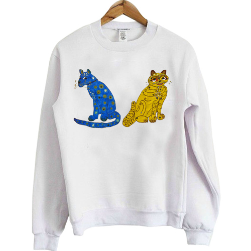 Abba Blue and Yellow Cat sweatshirt