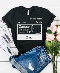 Xanax 2mg Rx Only t shirt