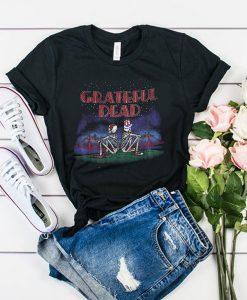 Grateful Dead Golden Gate San Francisco Skeleton t shirt