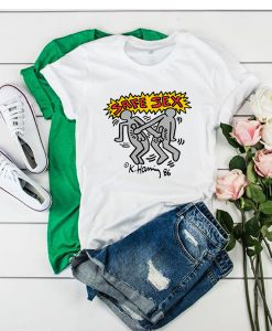Harry Styles Keith Haring Safe Sex t shirt