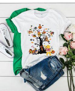 Winnie The Pooh Friends Halloween Tree t shirt