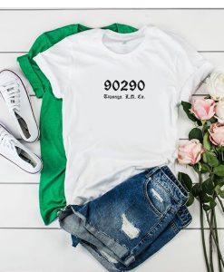 90290 topanga los angeles california t shirt