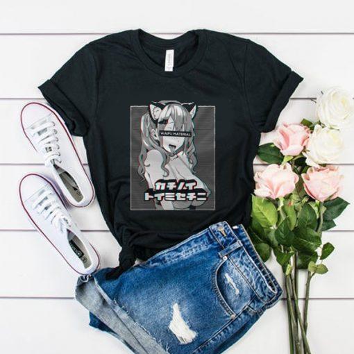 Waifu material ahegao face ANIME NEKO GIRL t shirt