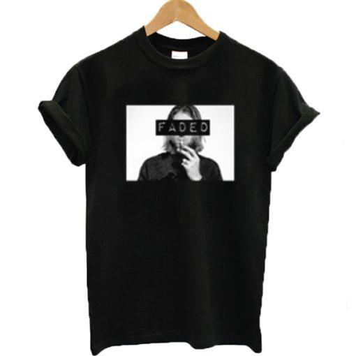 Kurt Cobain Faded t shirt