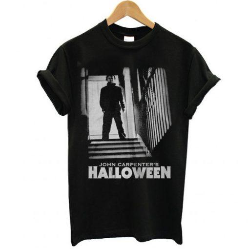 Halloween Michael Myers Stairs t shirt