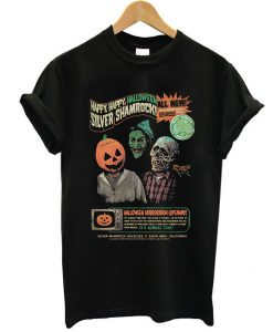 Happy Halloween Silver Shamrock t shirt
