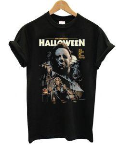 John Carpenter Halloween Black t shirt